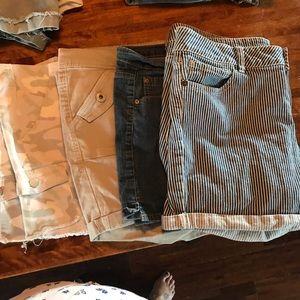 Pants - 4 pair of shorts size 18